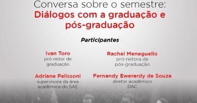 Conversa sobre o semestre: diálogos com a graduação e pós-graduação